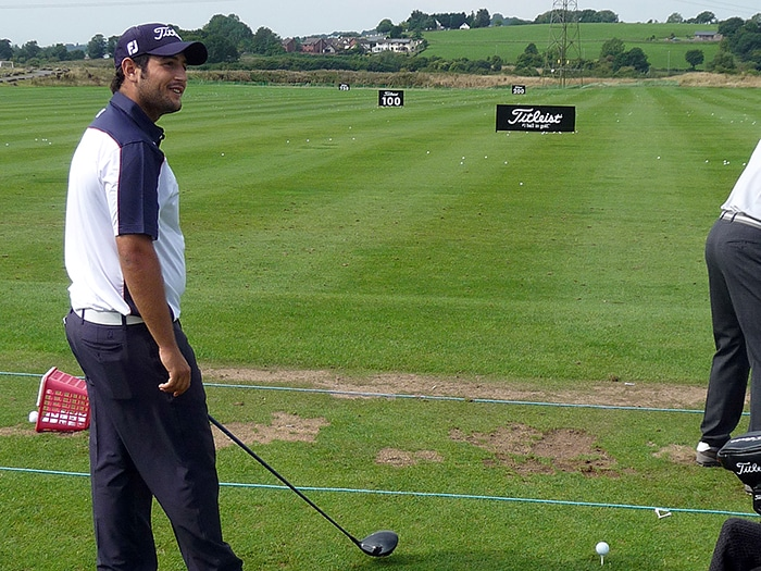 Alex Levy on the Driving Range