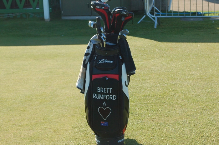 Brett Rumford is displaying a lot of love on his...