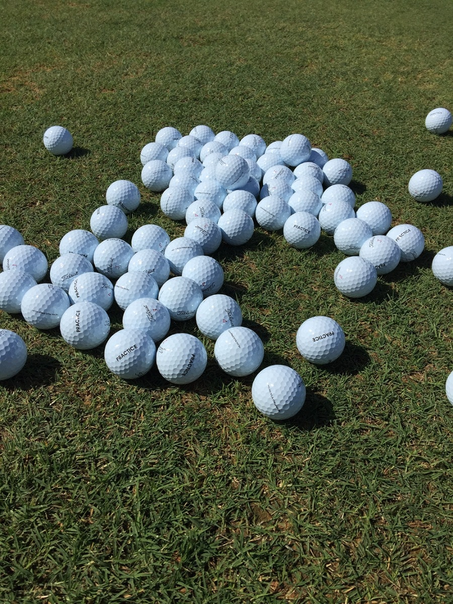 There were many of these golf balls in play this...