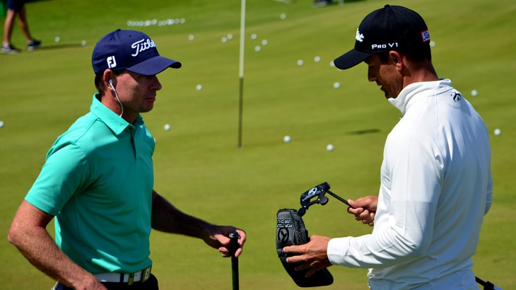 A quick Scotty Cameron chat with Adam Scott and...
