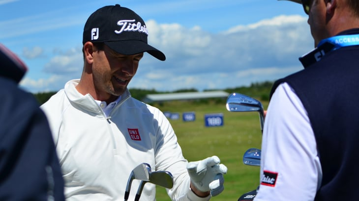 Titleist Brand Ambassador Adam Scott testing out...