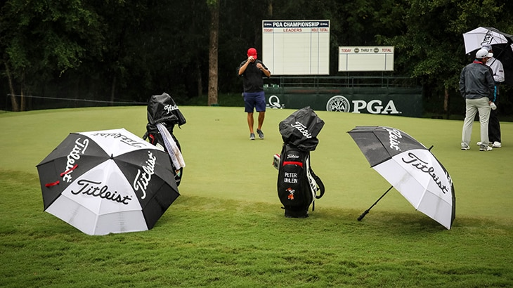 Tuesday started off with some weather, but players...