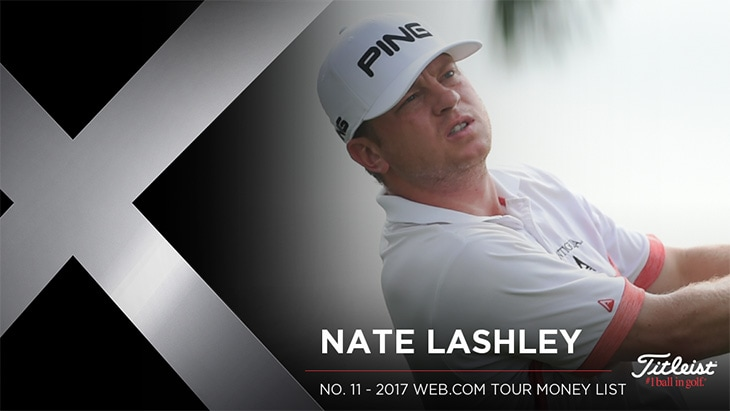 Titleist Pro V1x loyalist Nate Lashley recorded...