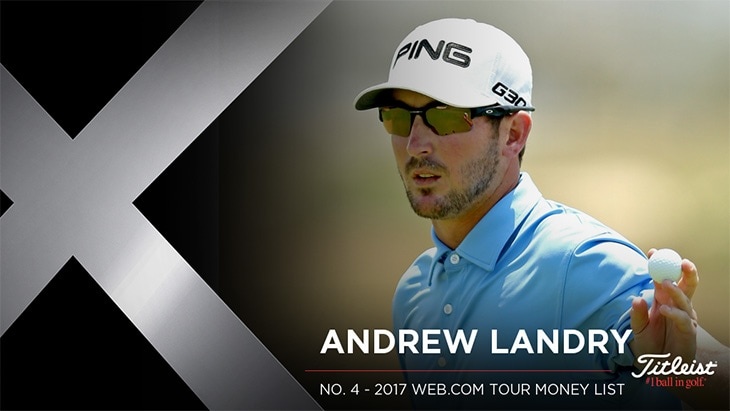 Titleist Pro V1x loyalist Andrew Landry won The...