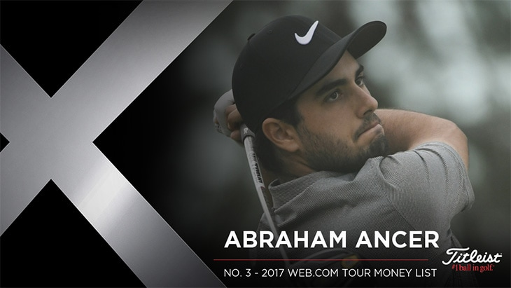 Titleist Pro V1x loyalist Abraham Ancer recorded...