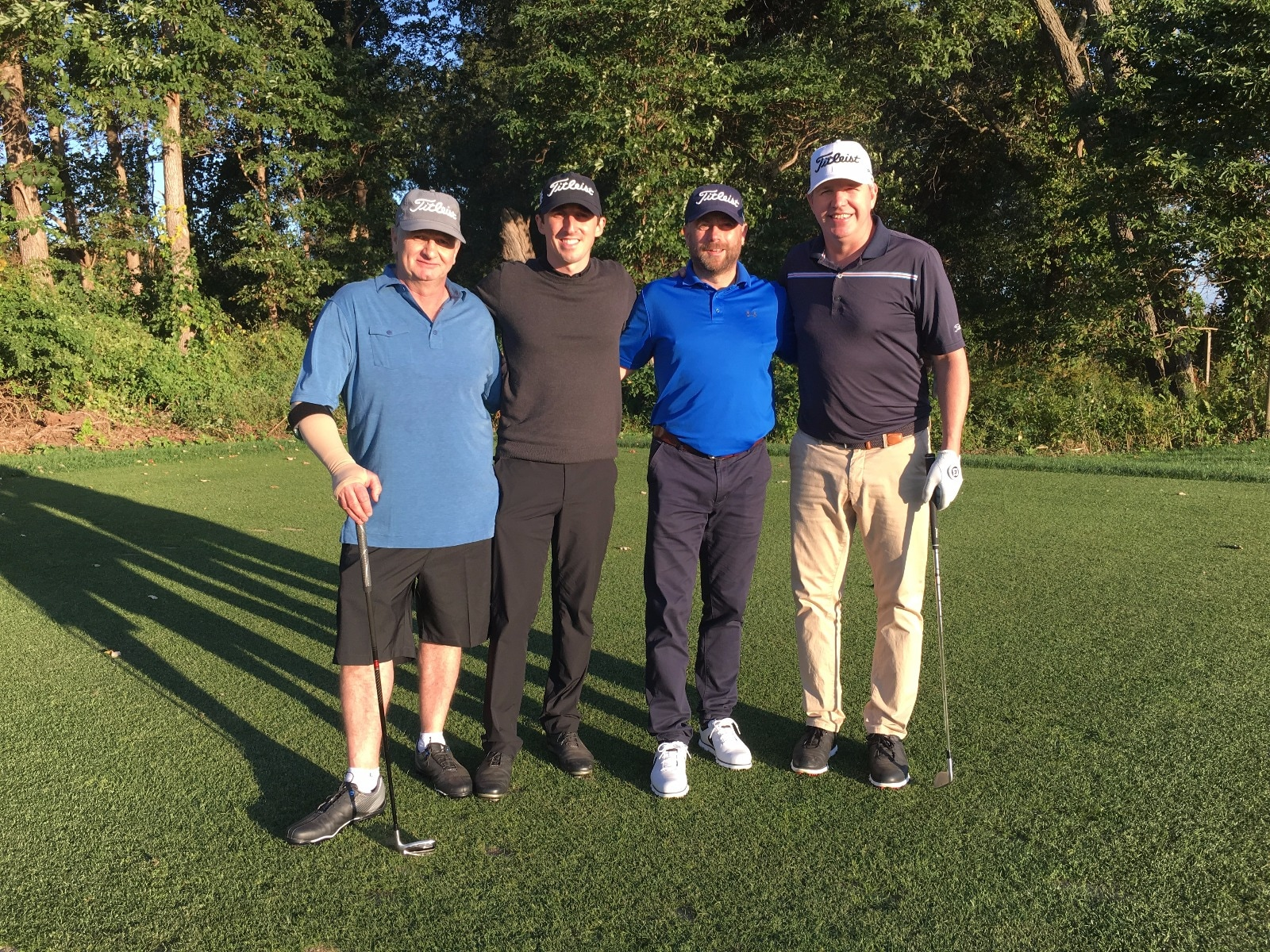 Richard and his playing partners.