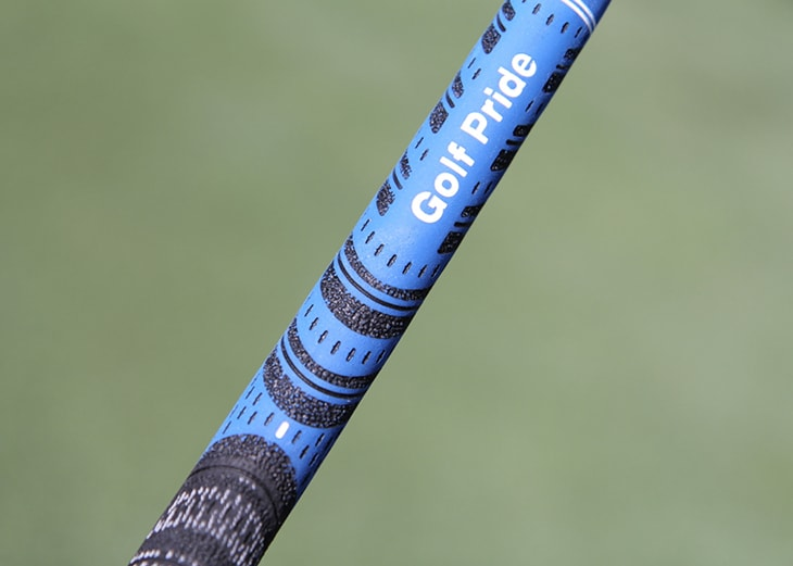 Hadley uses GolfPride Multi Compound grips on all...