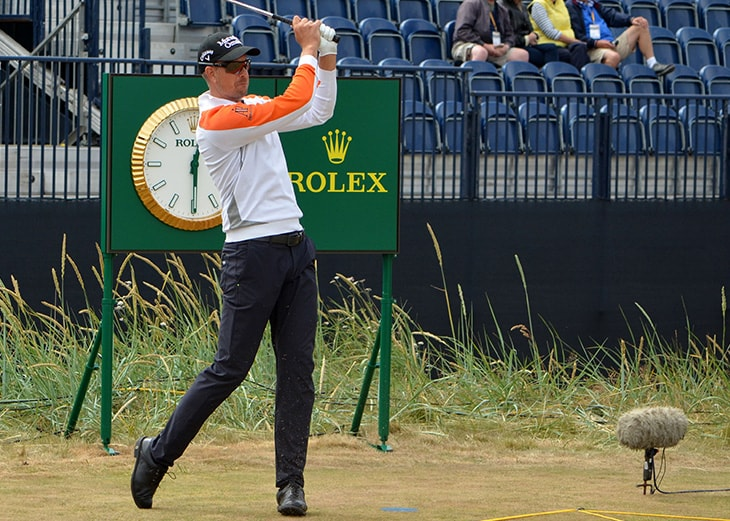 …and Henrik Stenson (Pro V1), who played the final...