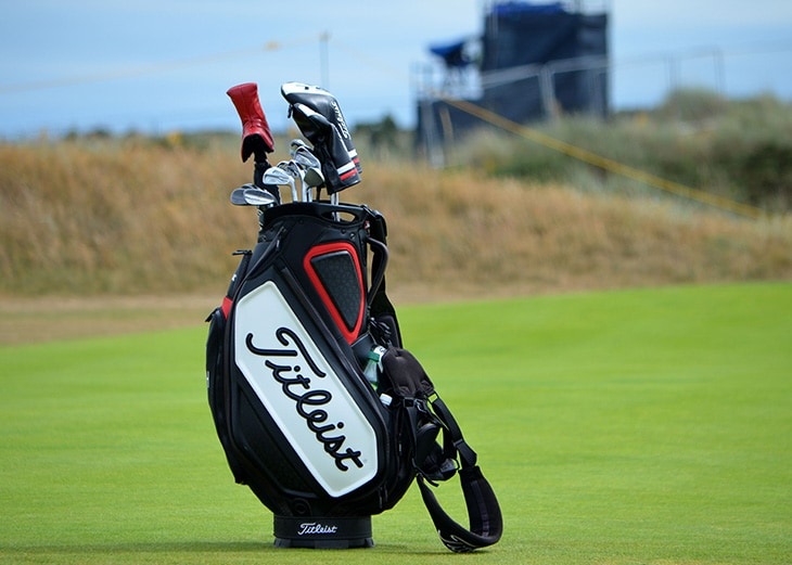 Team Titleist hit the links early on Monday...