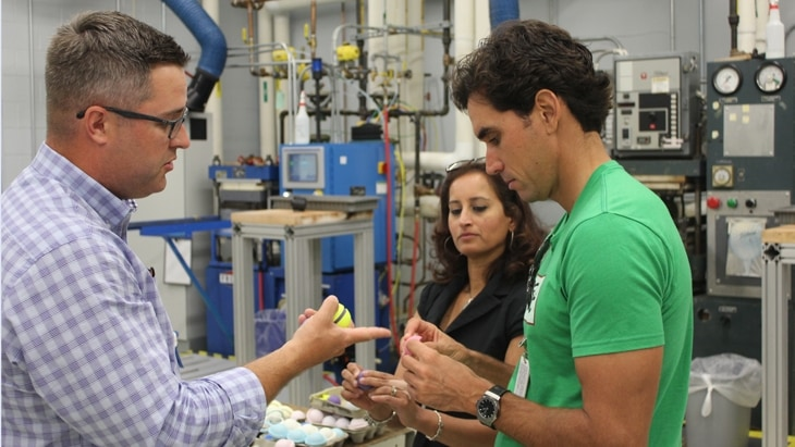 Rafa Cabrera Bello's behind-the-scenes visit of Titleist Golf Ball R&D and Ball Plant 3