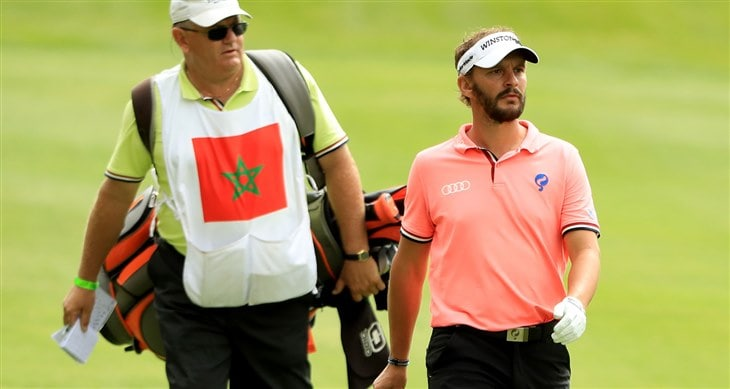 Caddy for Joost Luiten in The BMW PGA Championship Pro-Am