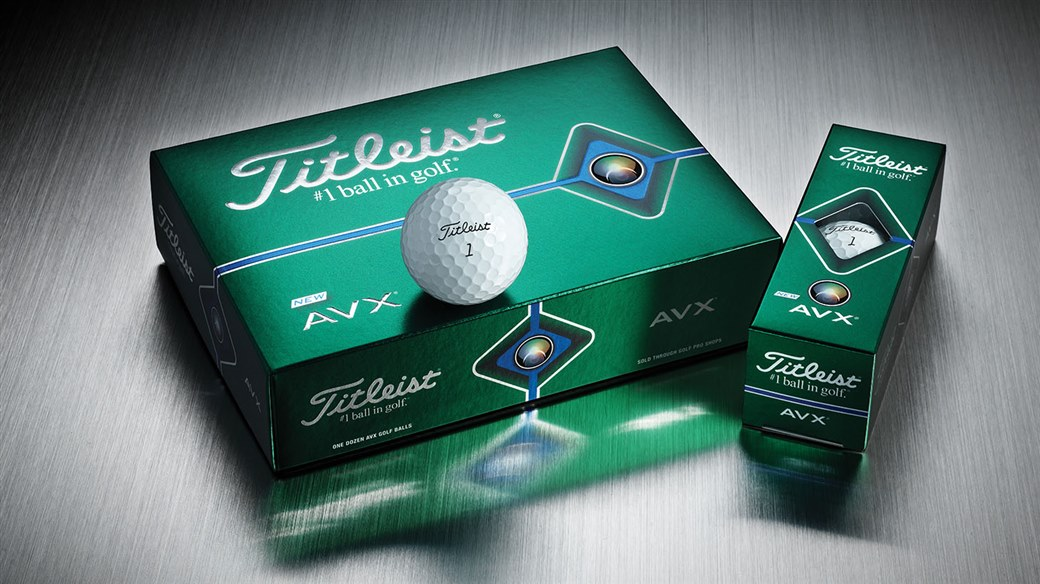 2020 Titleist AVX Golf Ball Dozen, 3-ball sleeve and single golf ball