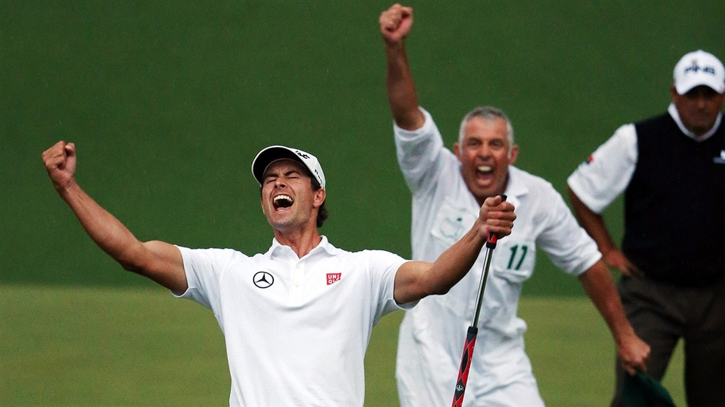 Adam Scott became the first Australian to earn a gren jacket after his triumph at the 2013 Masters.