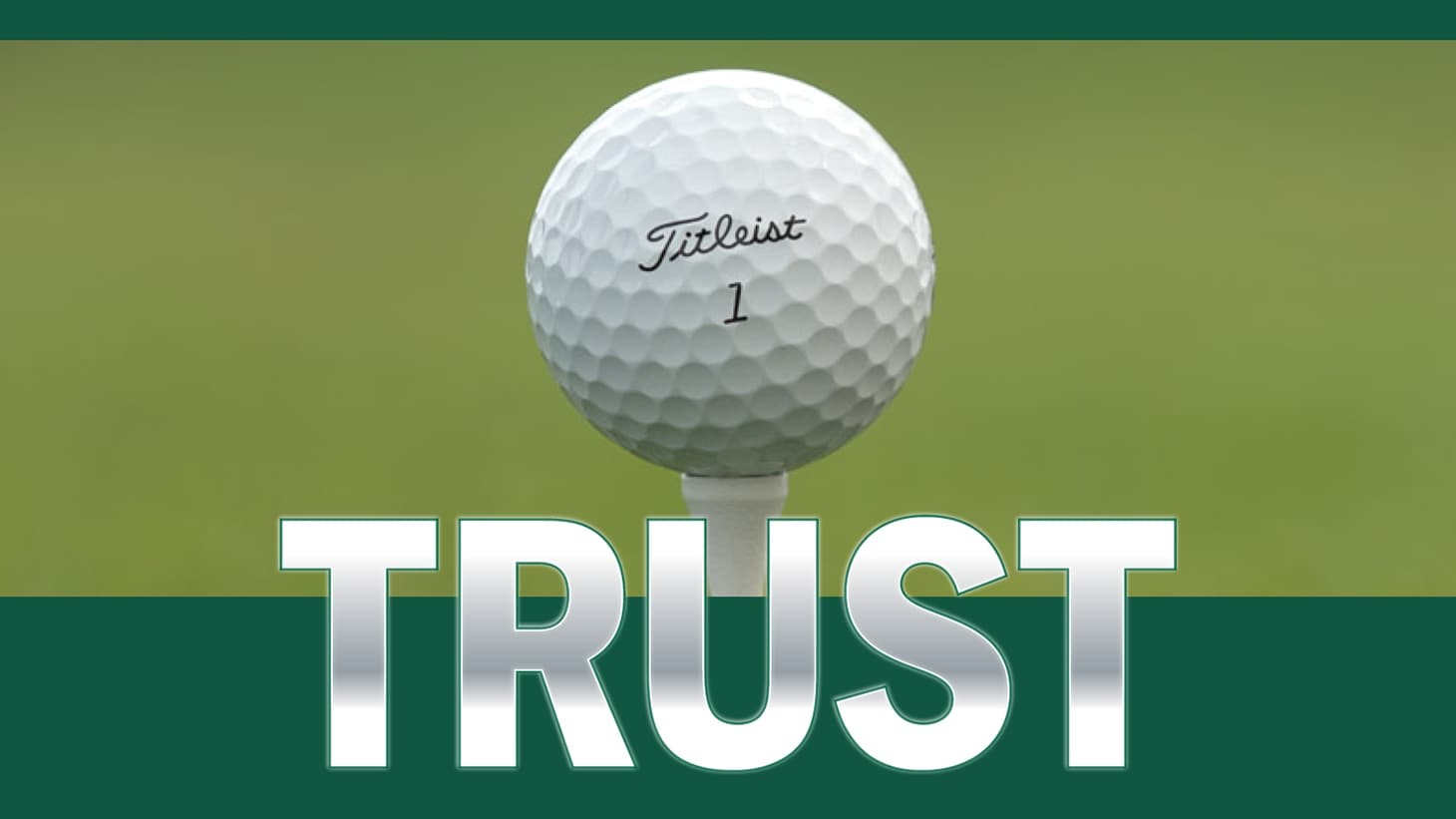 Titleist Pro V1 golf ball teed up at the 2018 Masters