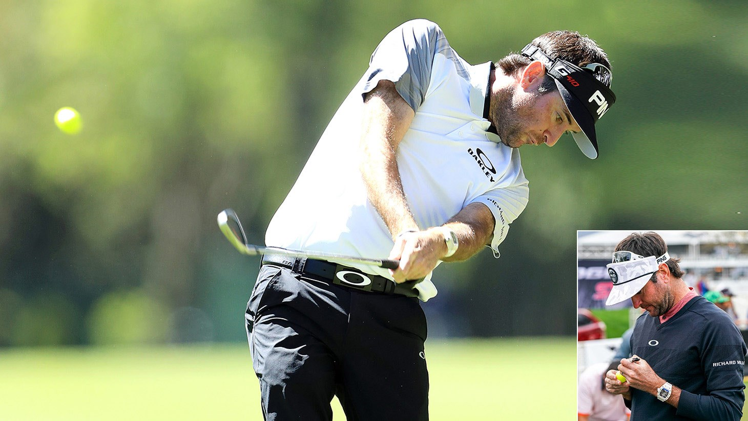 Bubba Watson in action on the PGA TOUR, using a Pro V1x Yellow golf ball