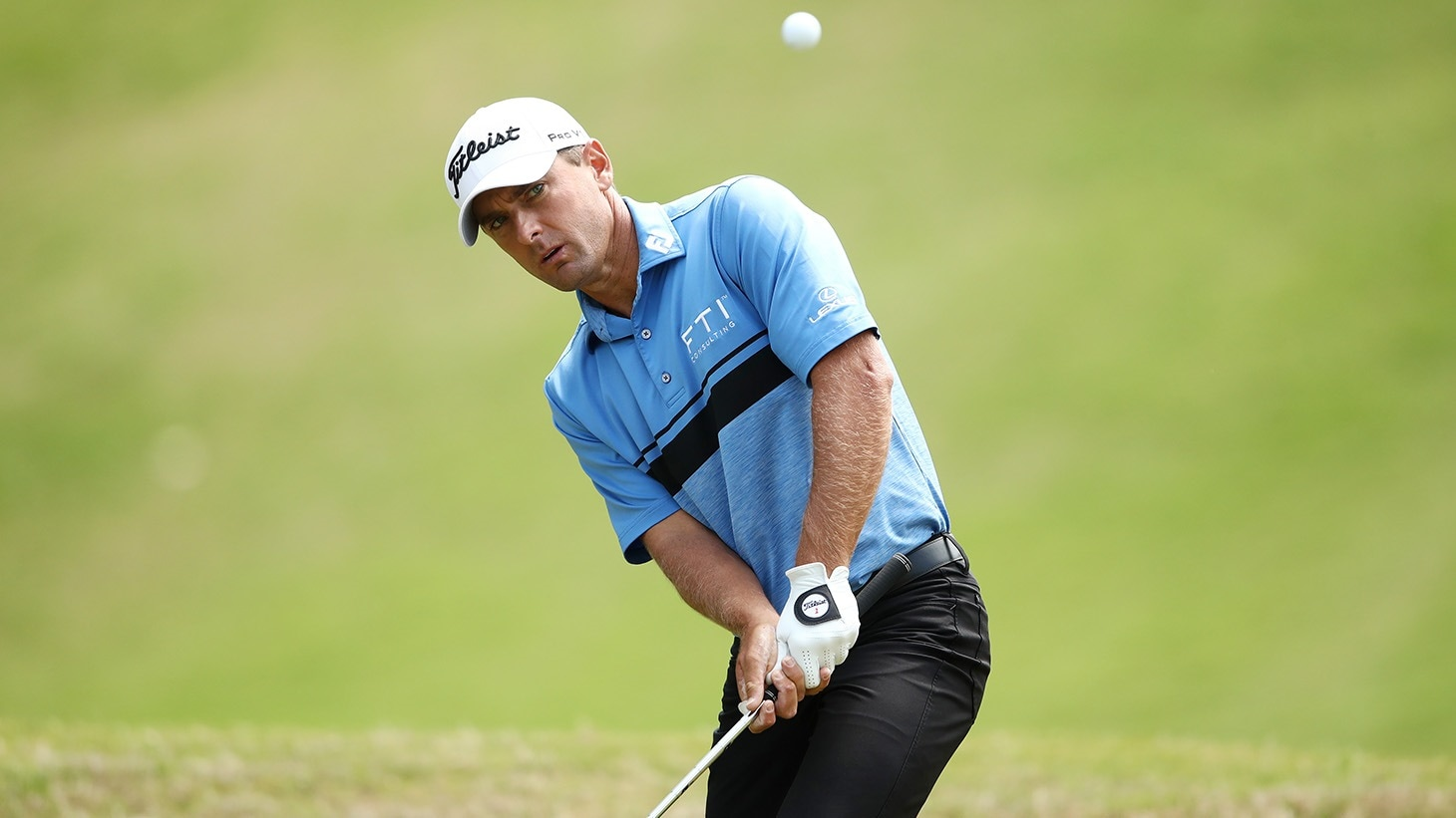 Charles Howell III hits a chip shot with his Vokey SM7 lob wedge at the 2019 Masters