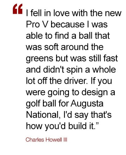 Charles Howell III quote on the performance of his 2019 Pro V1 golf ball